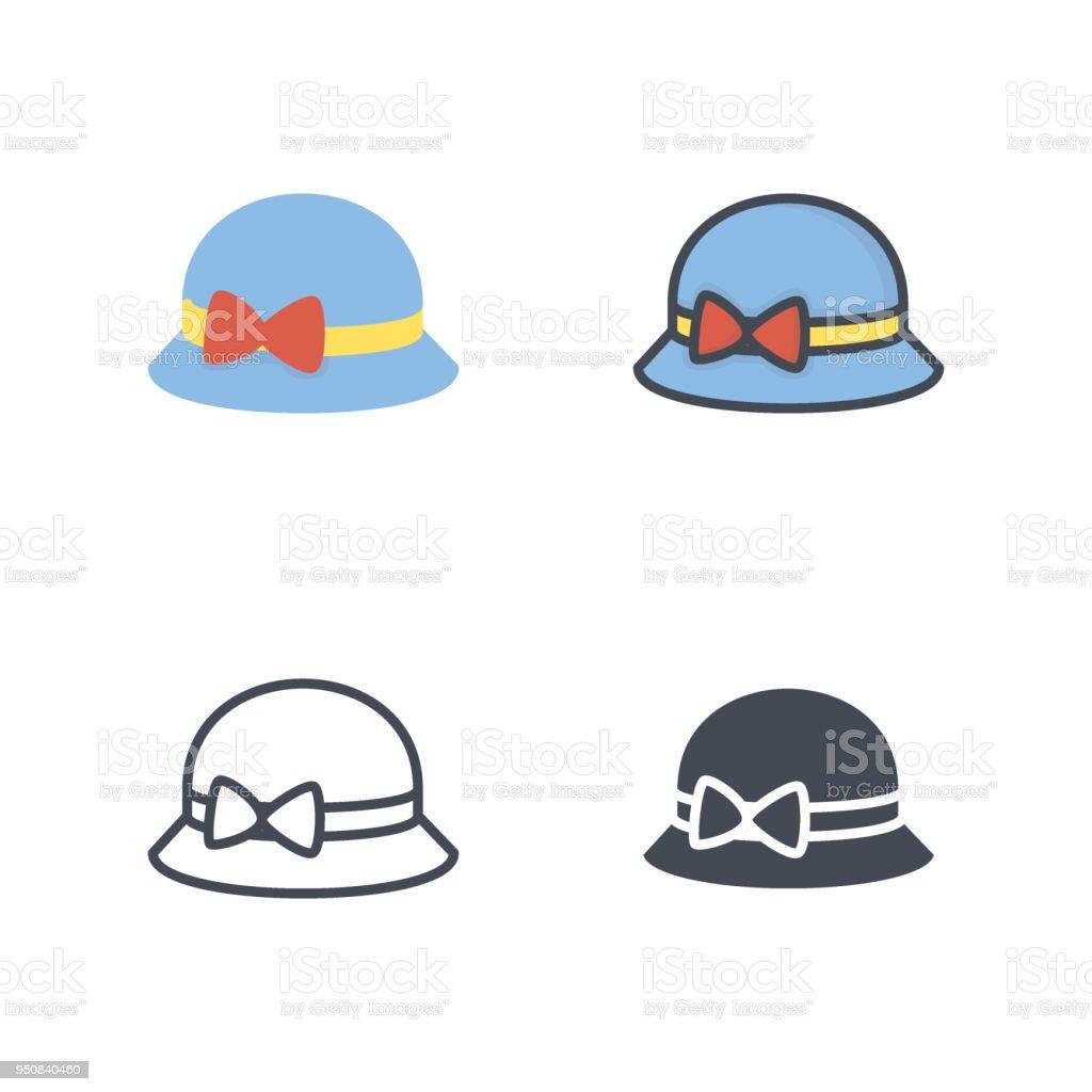 Silueta Sombrero Línea Planos De Mujer Ilustración Ropa Color wzqp5PC c71e8acda08