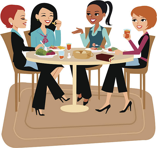 Best Ladies Lunch Illustrations, Royalty-Free Vector ...