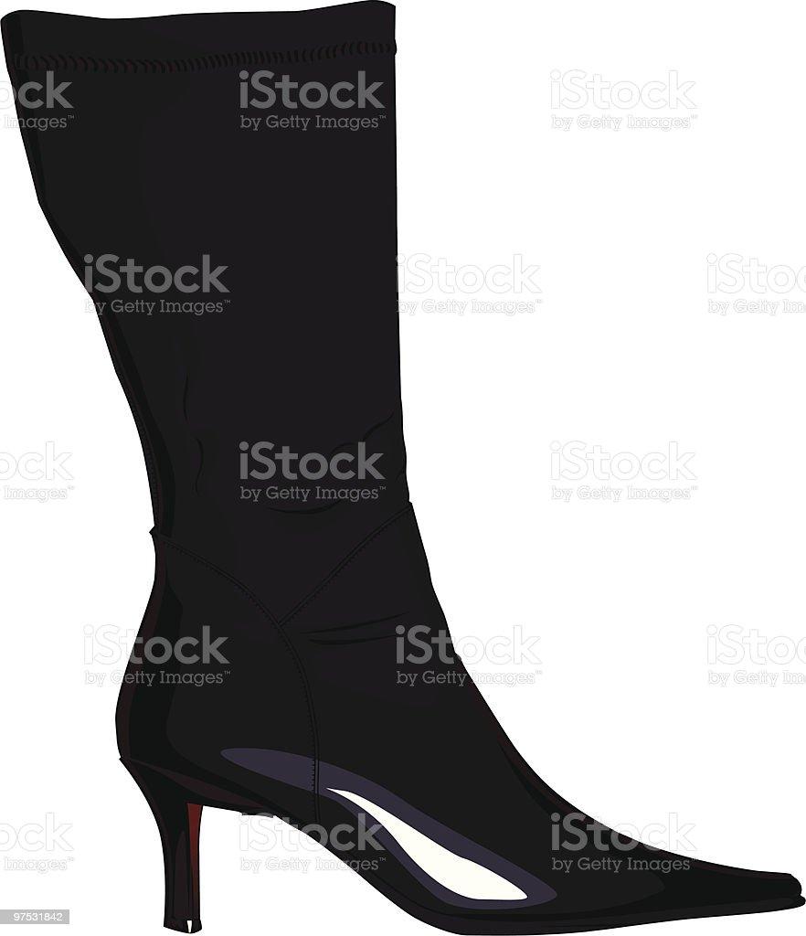 Women High Heel Boot royalty-free women high heel boot stock vector art & more images of black color