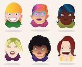 Diferent women avatars.