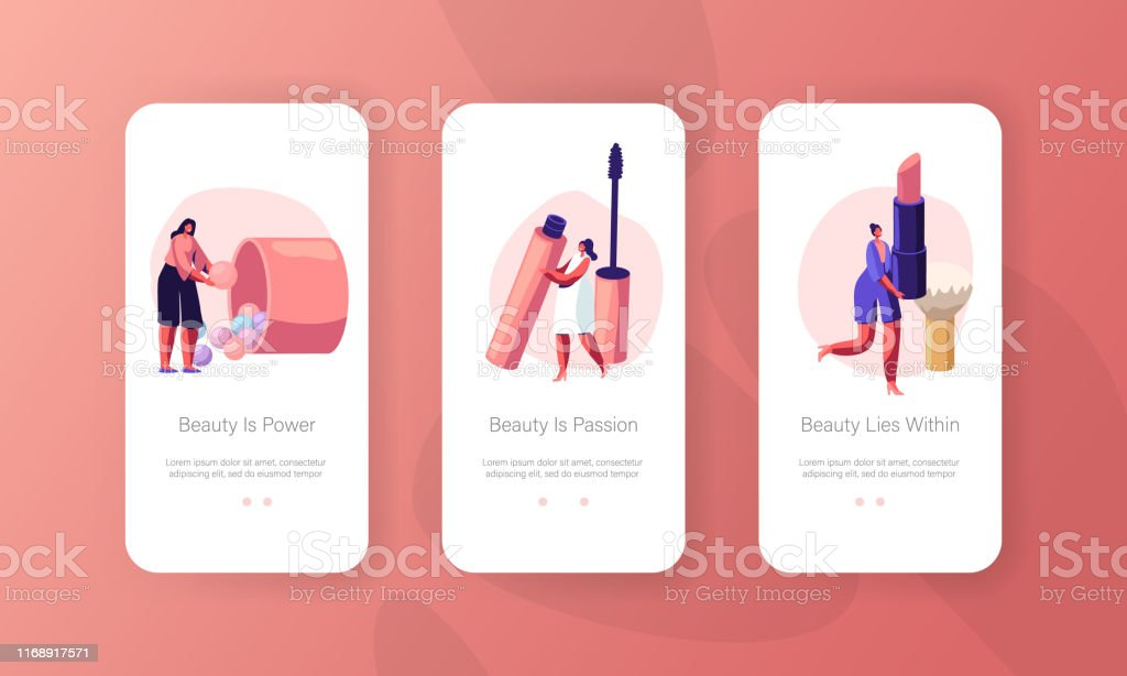 Women In Beautician Parlor Mobile App Page Onboard Screen