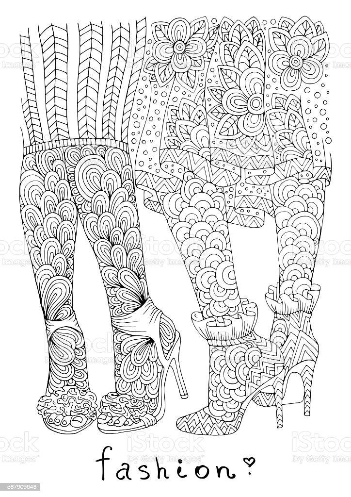 Heels Bilder Mehr Art Fashionable Und In High Stock Vektor Von Women K1JclT3uF