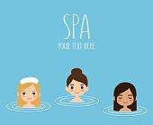 women in hot springs