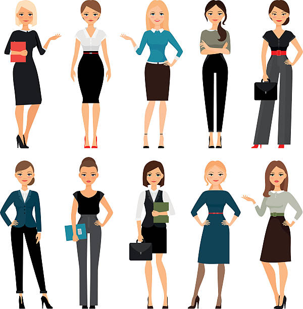 Royalty Free Business Woman Clip Art, Vector Images ...