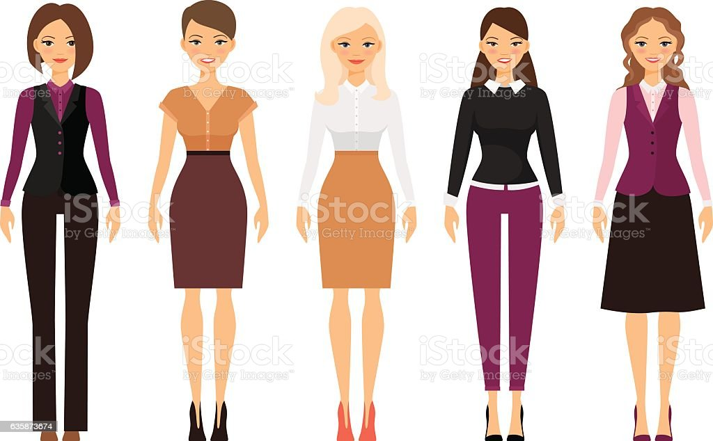women in office dress code clothes stock vector art amp more