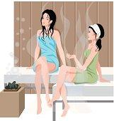 Women In Sauna C