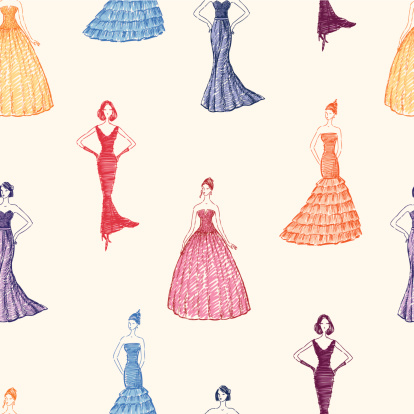 women in the evening dresses