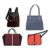 Woman bag vector girls handbag or purse and shopping-bag or clutch from fashion  store · women leather color handbags isolated on white background · women  ... d1043bee4c