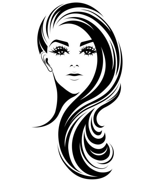 Wedding Hair Style Black Vector Art: Royalty Free Black Hair Stylist Clip Art, Vector Images