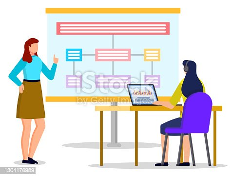 istock Women on Appointment at Office, Working Together 1304176989