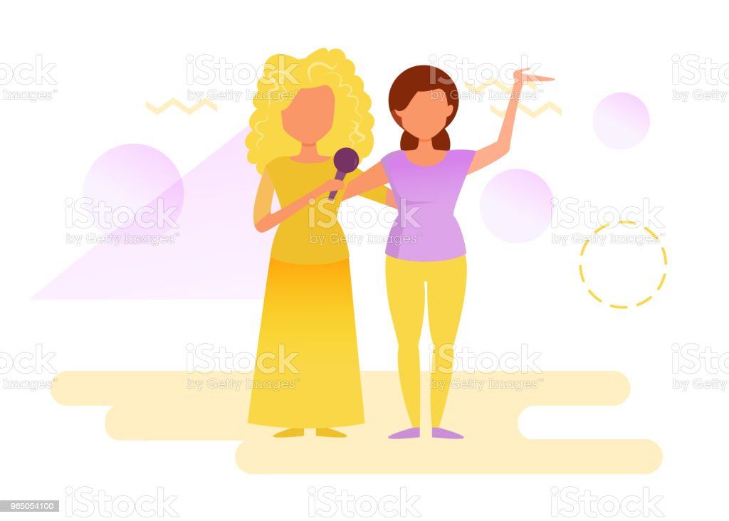 Women on stage singing royalty-free women on stage singing stock vector art & more images of adult