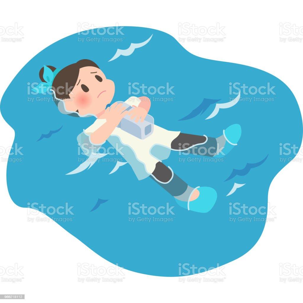 水の女性 ベクターアートイラスト