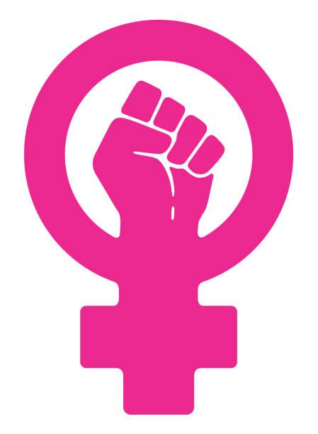 illustrazioni stock, clip art, cartoni animati e icone di tendenza di women resist smybol - violenza donne