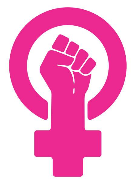 illustrazioni stock, clip art, cartoni animati e icone di tendenza di women resist symbol - violenza donne