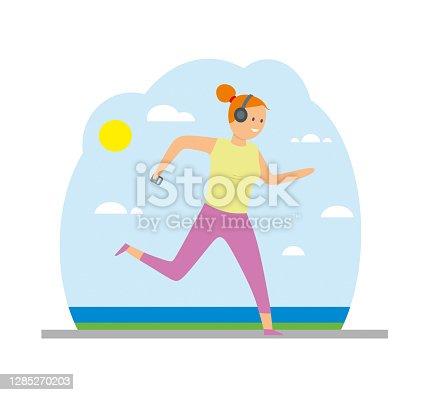 istock women running in the seaside vector illustration 1285270203