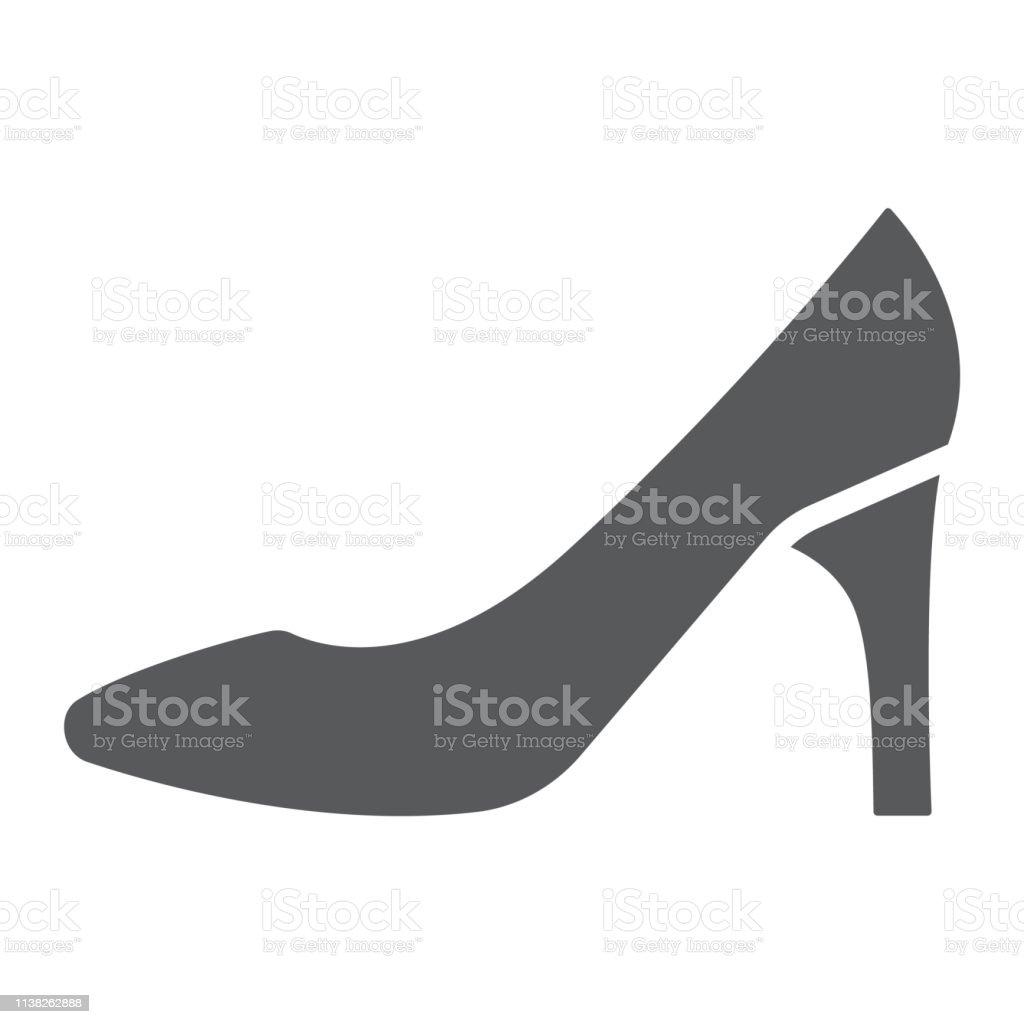 Icono Ilustración De Zapatos Mujer Y Calzado Glifo PkTOXZuwi