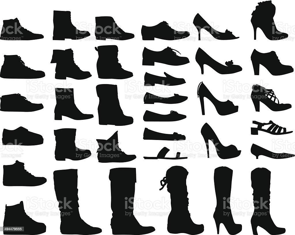 Women Shoes vector art illustration