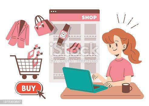 istock Women shopping online 1323999837