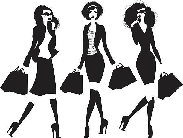frauen kaufen - couture stock-grafiken, -clipart, -cartoons und -symbole