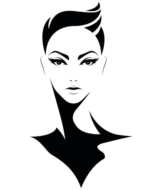 Royalty Free Black Hair Clip Art, Vector Images