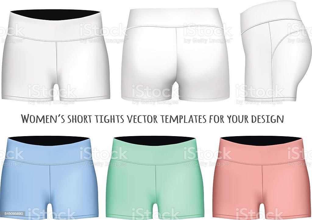 Women short tights. vector art illustration