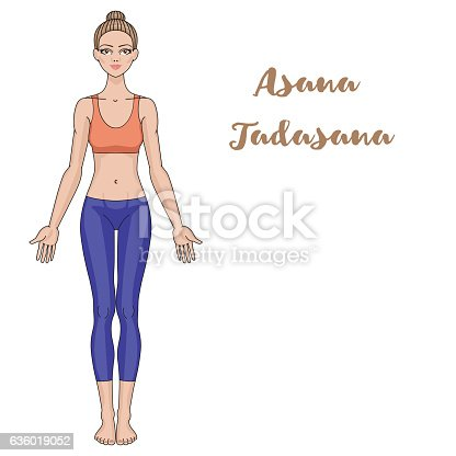 women silhouette yoga mountain pose tadasana stock vector