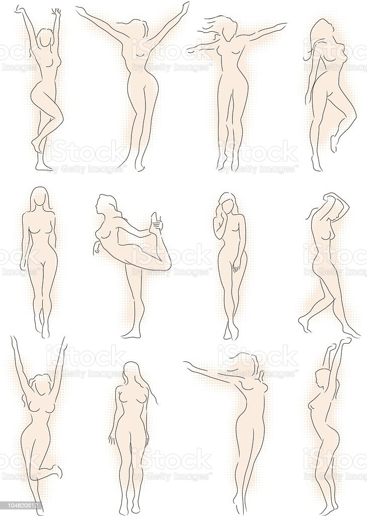 Women Silhouettes vector art illustration