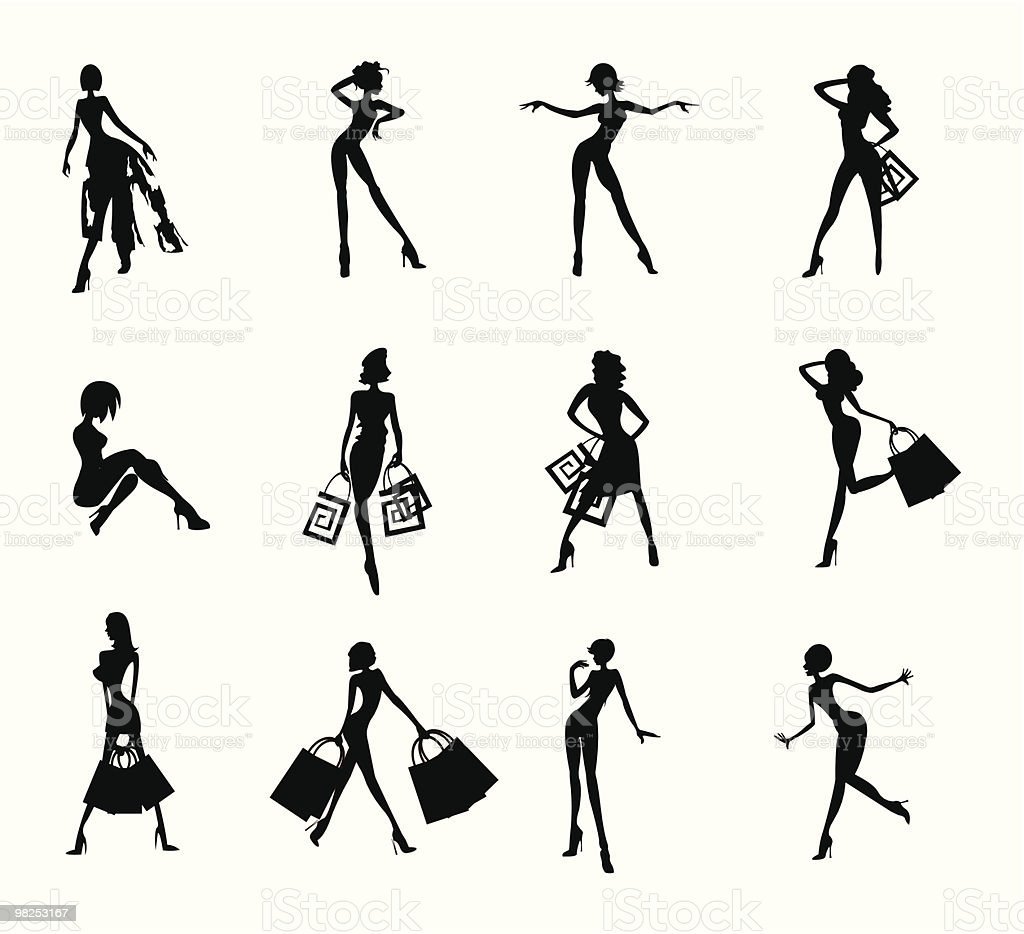 women silhouettes royalty-free women silhouettes stock vector art & more images of adolescence