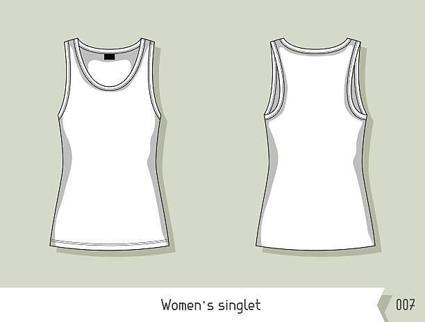 women singlet. template for design, easily editable by layers - bodysuit stock-grafiken, -clipart, -cartoons und -symbole