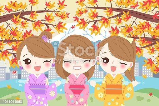istock women smile happily with maple 1011011980