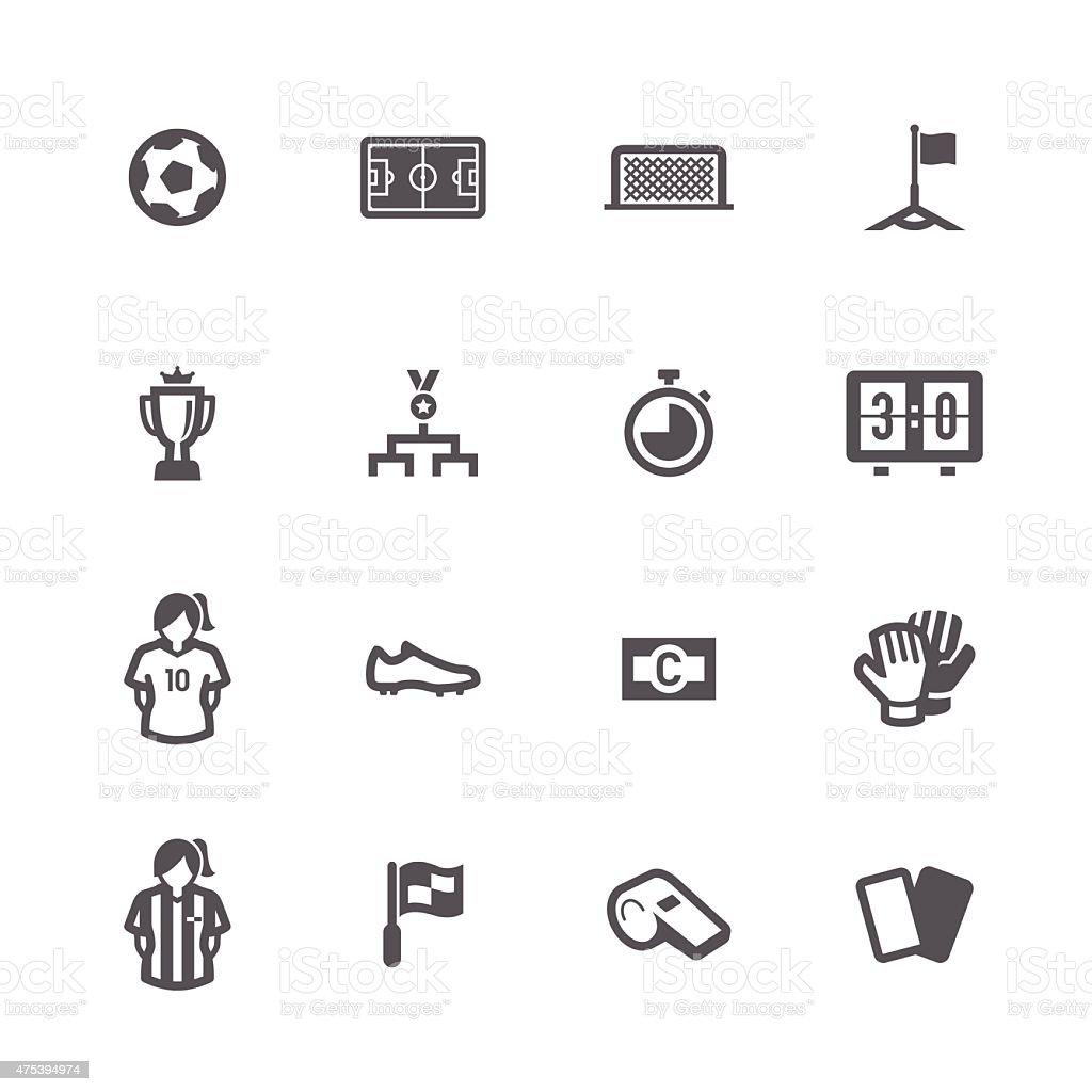 Women Soccer Icons vector art illustration