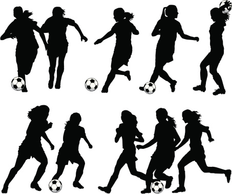 Women Soccer Player Silhouettes