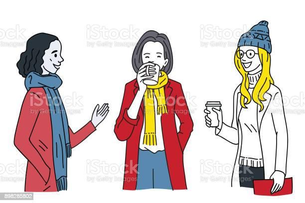 Women talking together in winter season vector id898285802?b=1&k=6&m=898285802&s=612x612&h=sbv8tjg1tcdbgsa48xc3ehjhoclqkrrgsl5tckb7ze4=