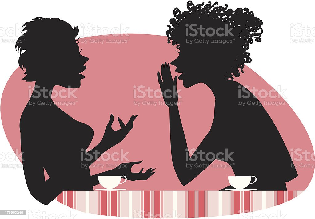 Women talking royalty-free women talking stock vector art & more images of cafe