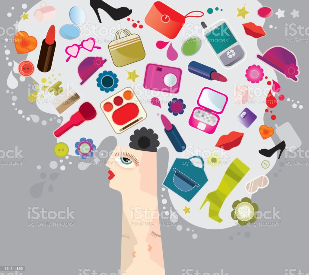 Women Thoughts royalty-free women thoughts stock vector art & more images of abstract
