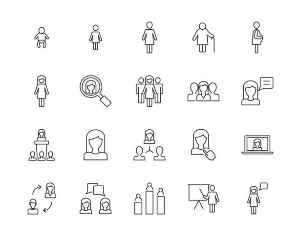 women vector icons - professional women stock illustrations, clip art, cartoons, & icons
