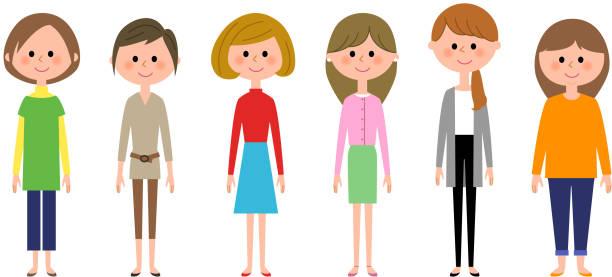 illustrations, cliparts, dessins animés et icônes de les femmes - femmes actives