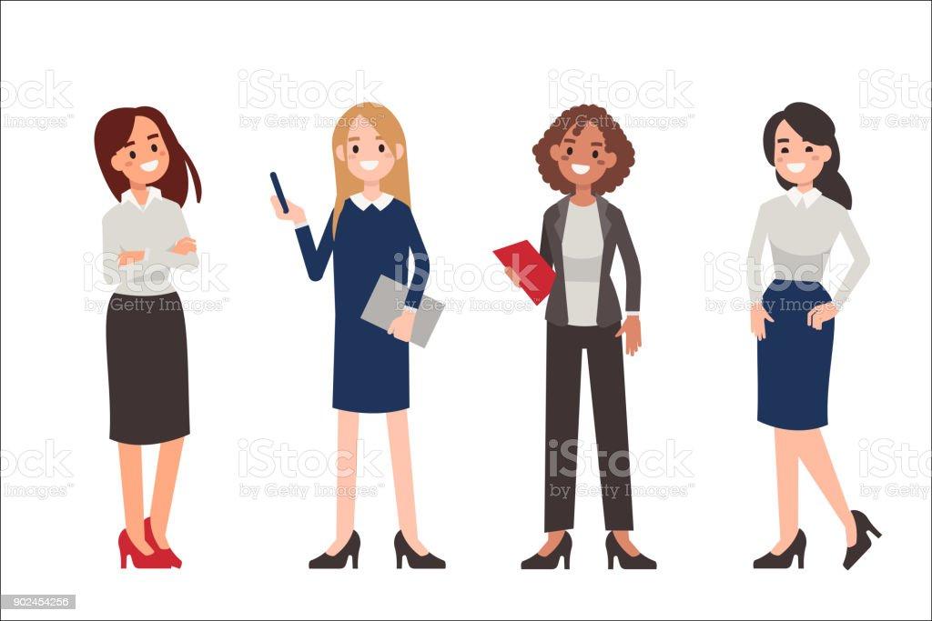 kvinnor - Royaltyfri Affärskvinna vektorgrafik