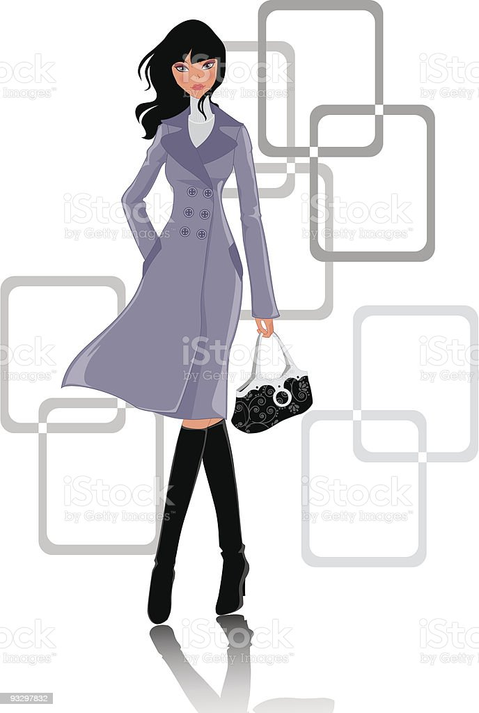 women vector art illustration