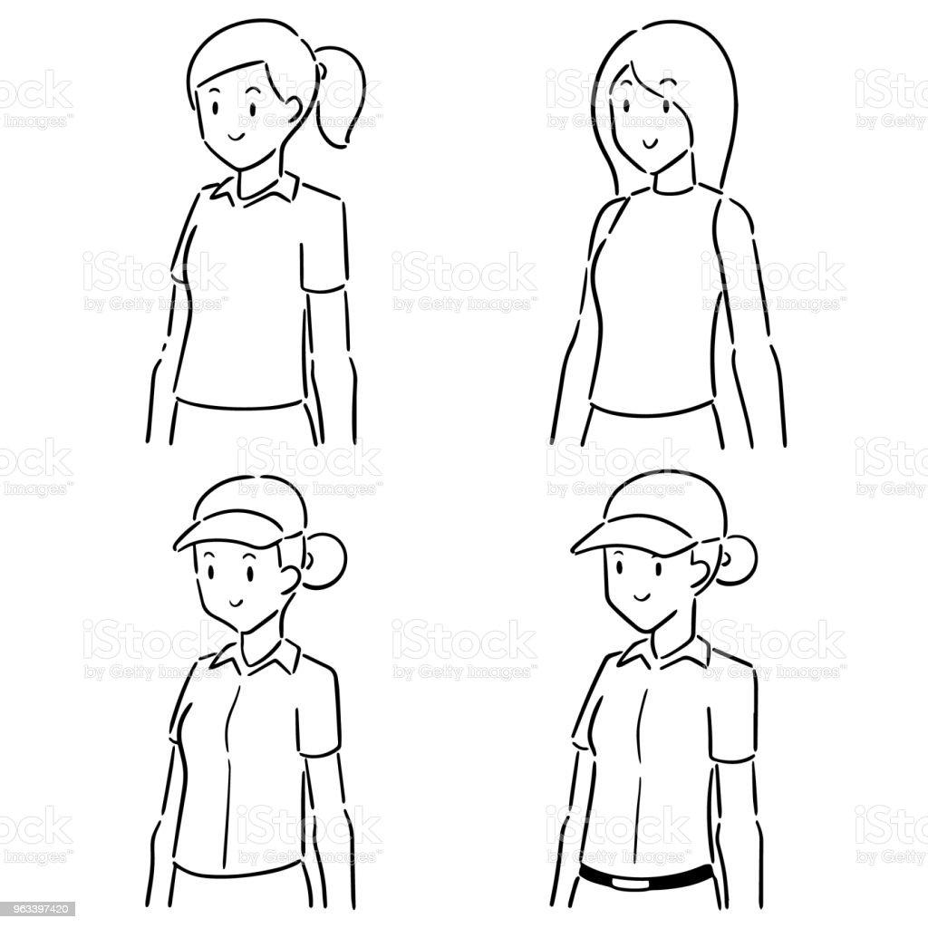 kobieta - Grafika wektorowa royalty-free (Bazgroły - Rysunek)