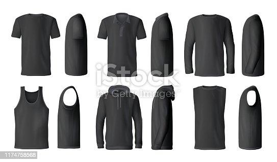 istock Women white tank top t-shirts, sportswear mockups 1174758568