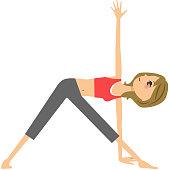 Women who do yoga