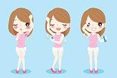 women with body odor