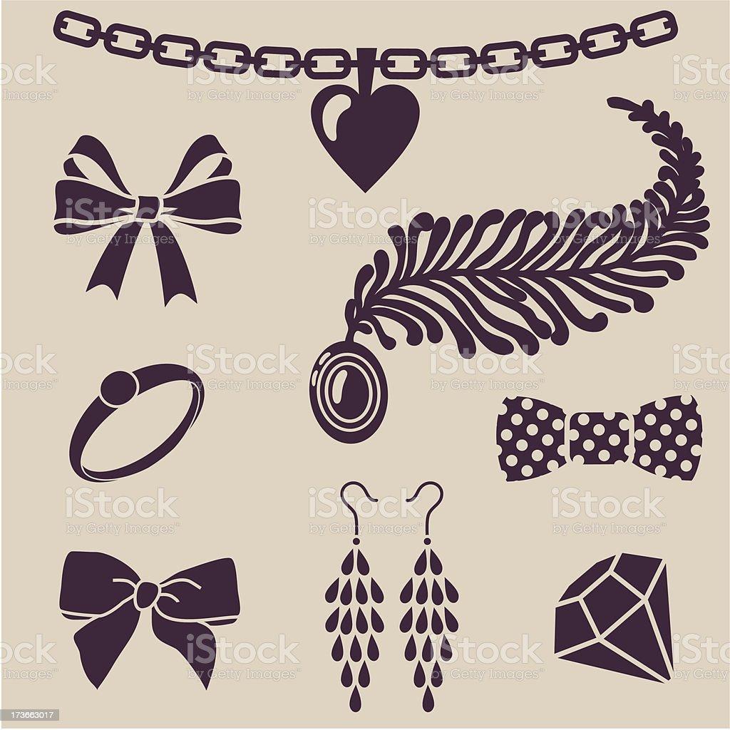 women`s accessories royalty-free stock vector art