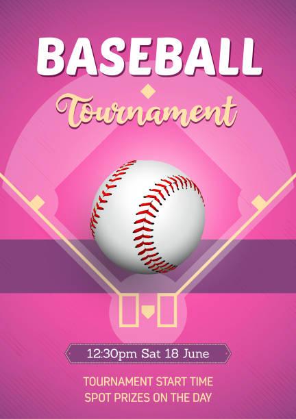 Women's Baseball poster vector art illustration