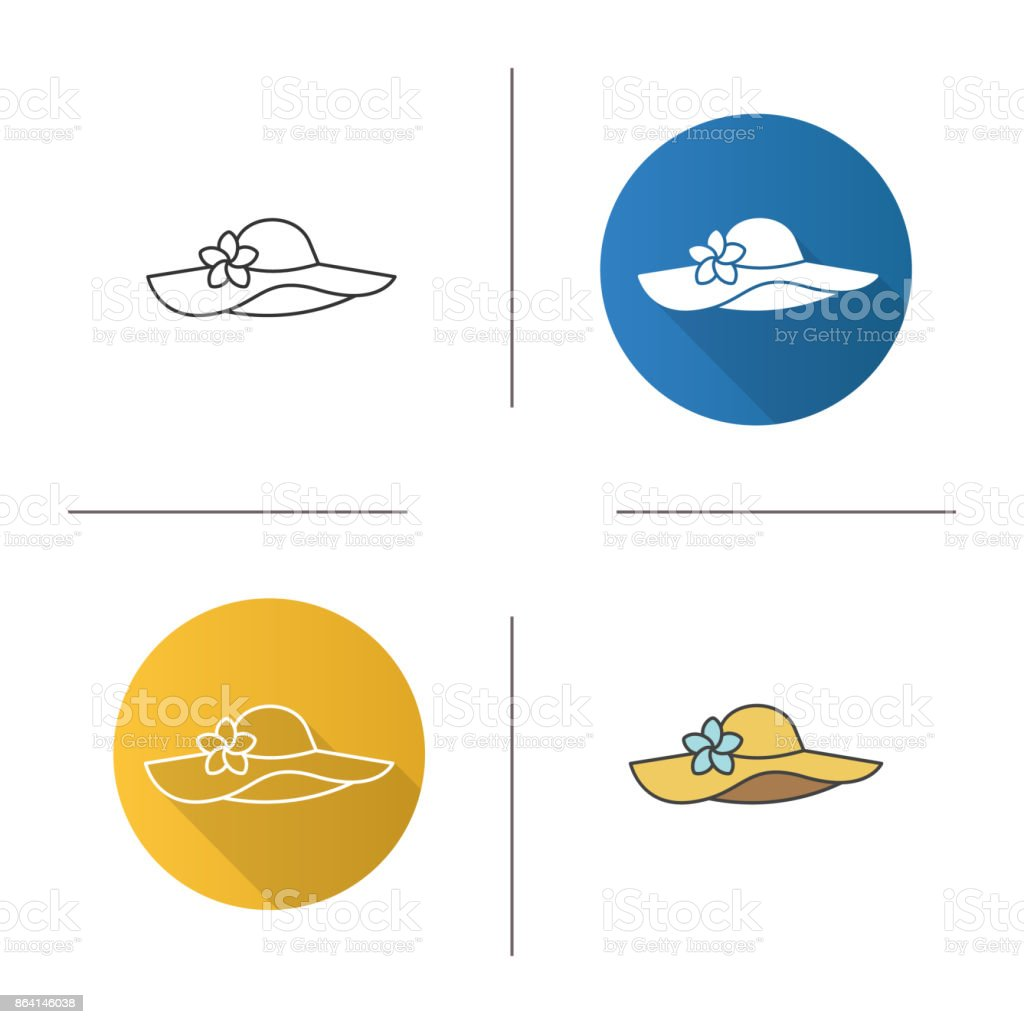 Women's beach hat icon royalty-free womens beach hat icon stock vector art & more images of adult