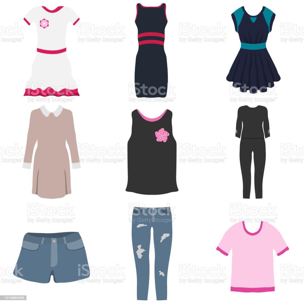 best service 3926d d11e2 Damenbekleidung Eine Reihe Von Damenbekleidung Kleid Bluse ...