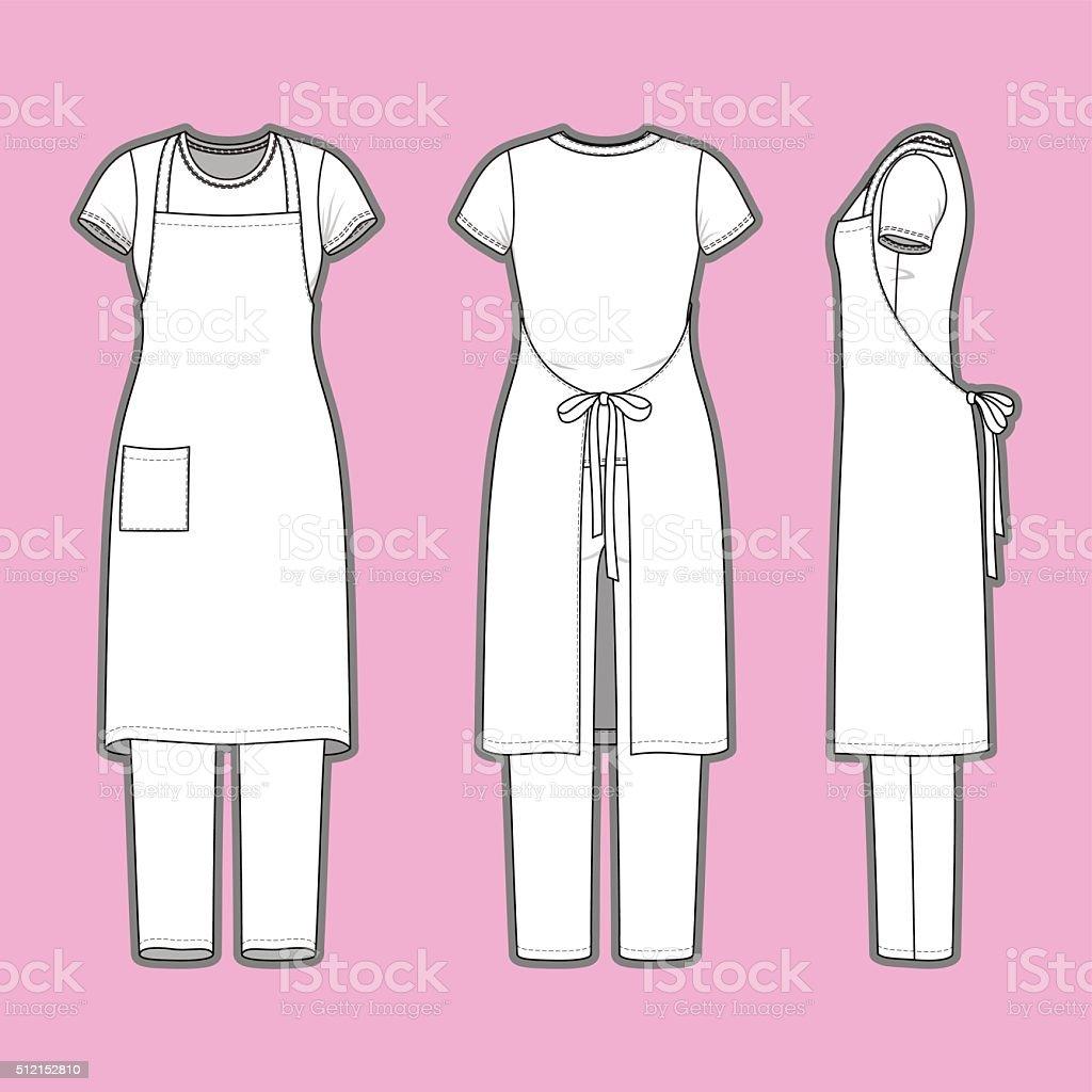 Roupas femininas série. - ilustração de arte em vetor