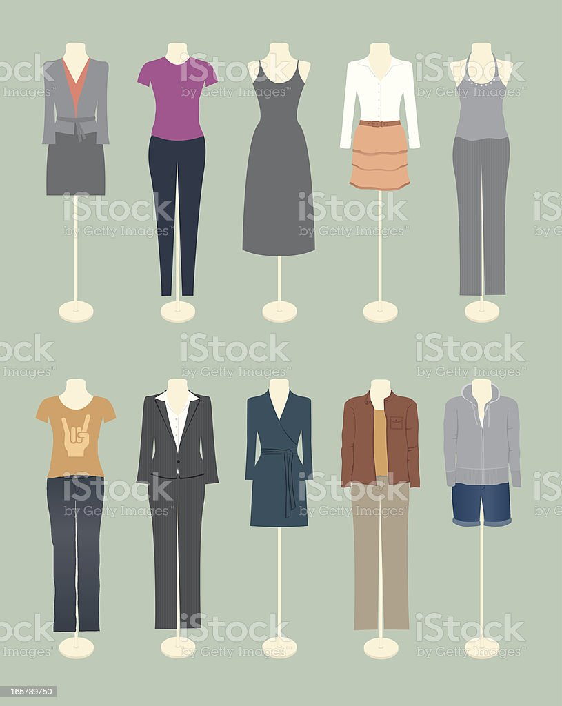 Women's Clothing vector art illustration