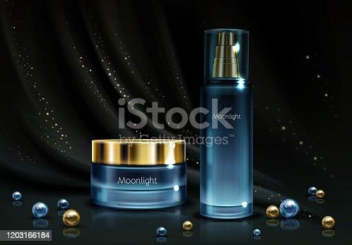 istock Womens cosmetics product realistic vector mockup 1203166184